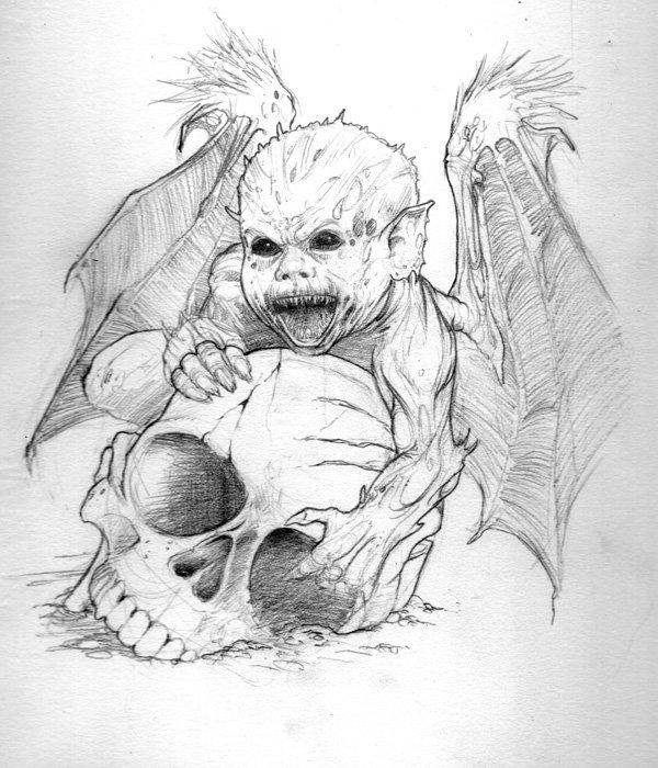 Демоны картинки карандашом, рождеству для айфона