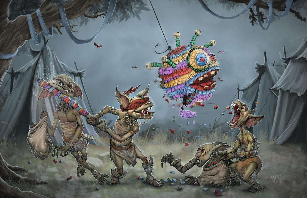 Ain't no party like a goblin birthday party! by GraphicGeek