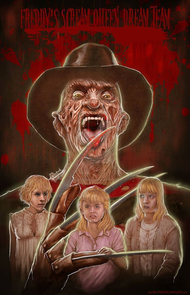 Freddy's Scream Queen Dream Team by GraphicGeek