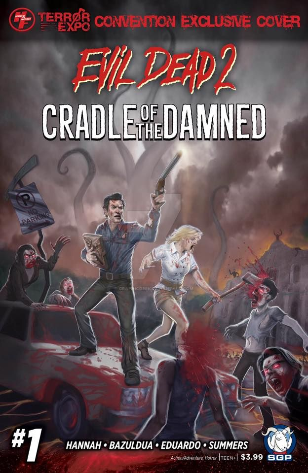 Evil Dead 2: Cradle of the Damned Variant Cover by GraphicGeek