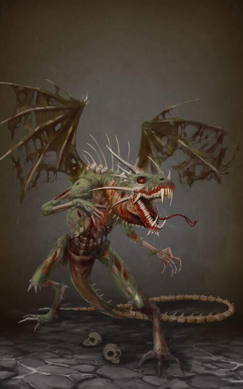 DC: Dreadthorn the undead Dragon by GraphicGeek