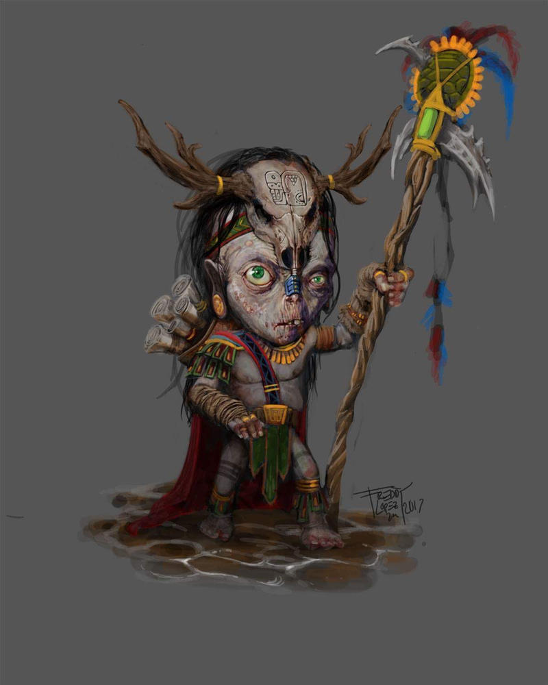 TALOC: Dwarf of Uxmal by GraphicGeek