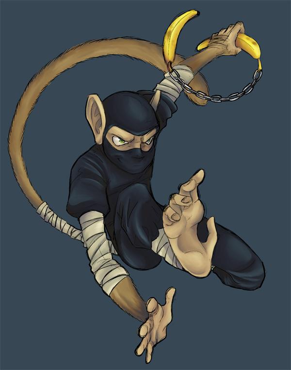 monkey ninja of doom by Loam