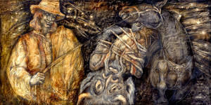 Illustration to West-Ukrainian fairy tale