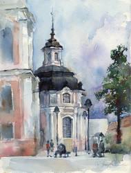 Moniuskos square before the rain
