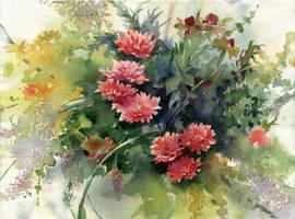 Flowers on  Makoviy day by OlgaSternik