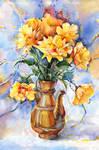 Yellow flowers. Still life