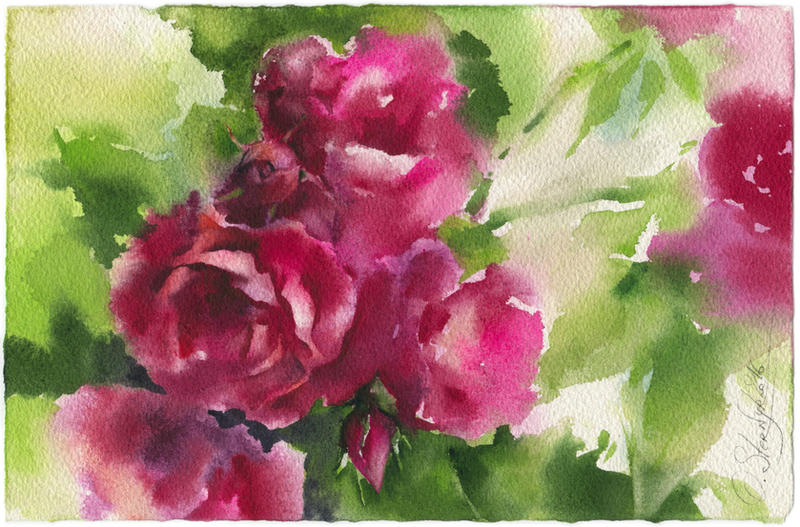 Roses 1. Diptych by OlgaSternik