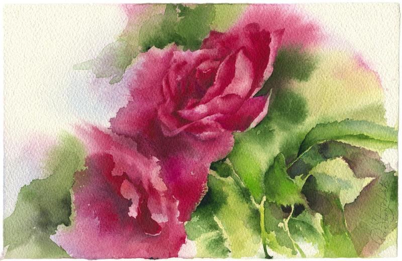 Roses 2. Diptych by OlgaSternik