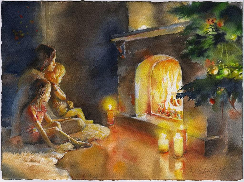 Fireside by OlgaSternik