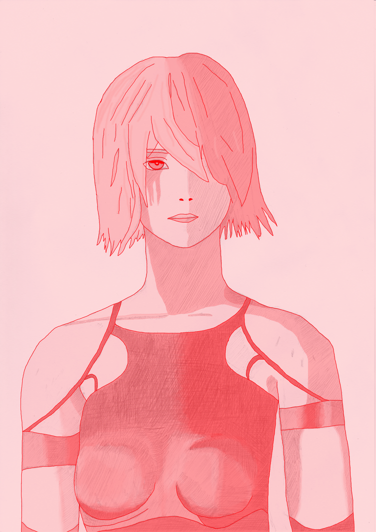 NieR Automata red coloured by Nimroden