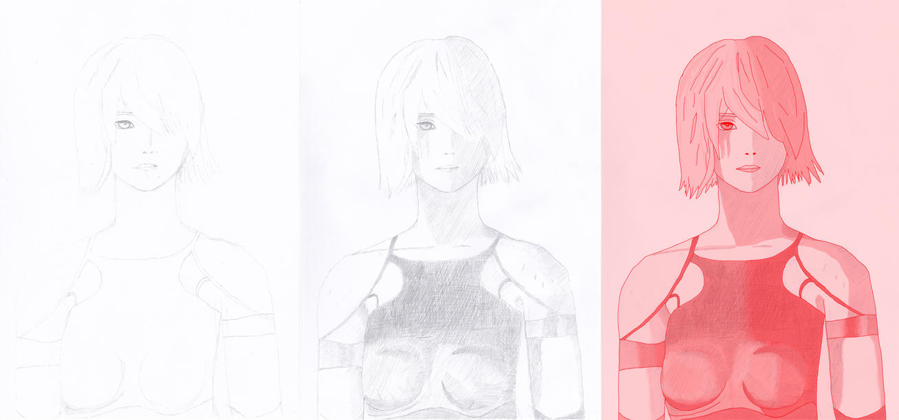 NieR Automata Drawing Progress by Nimroden