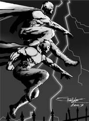 Santo y Blue Demon by ZHERODIGITAL
