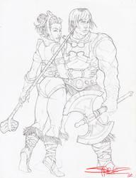 HE-MAN AND TEELA by ZHERODIGITAL