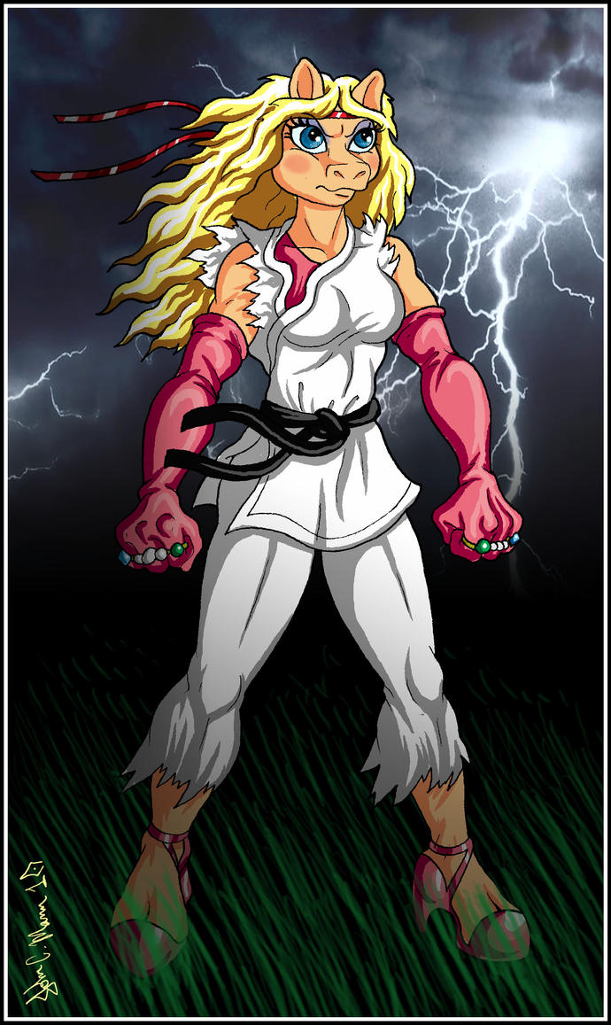 MUPPET FIGHTER - MISS PIGGY by Eggplantm