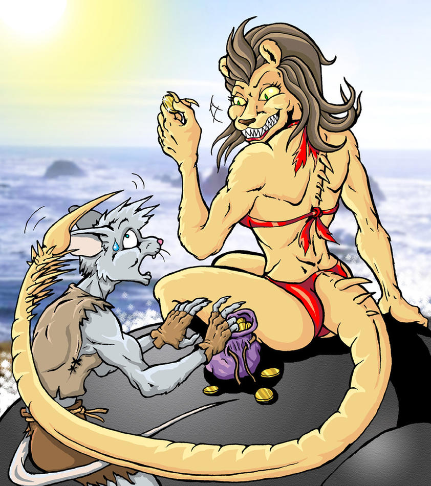 The Mouse and The Manticore by Eggplantm
