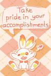 Take pride in your accomplishments