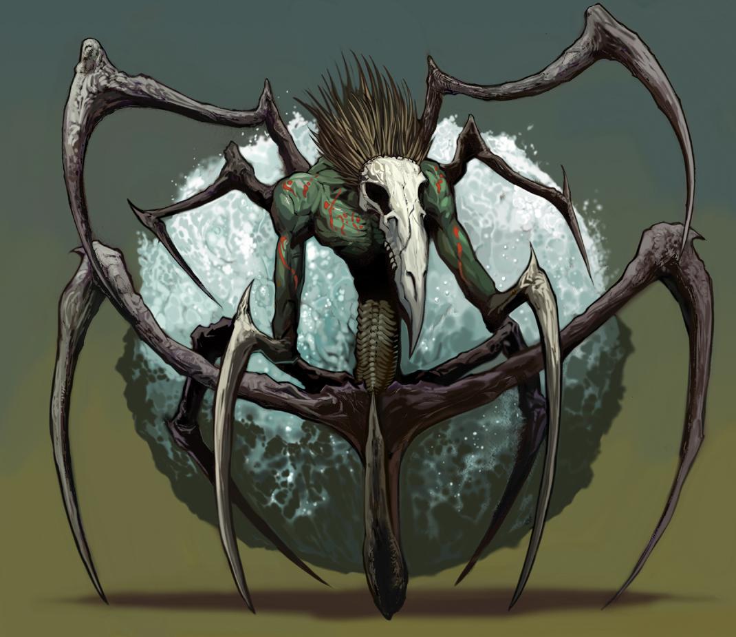 Spider Demon Coloured by JohnnyTHL