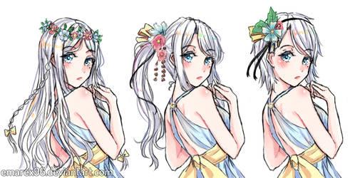 Haruka-chan hairstyles