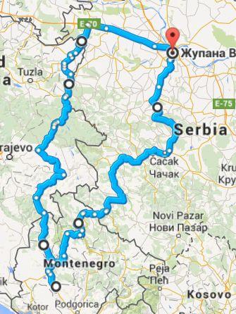 Beograd Zlatibor Mapa Superjoden