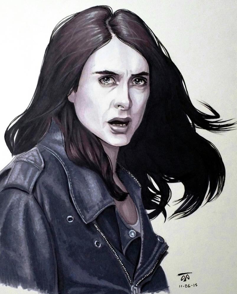 Jessica Jones - Grayscale Markers by TrinityMathews