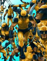 Wolverine Sketchsheet Colored by ruddiger