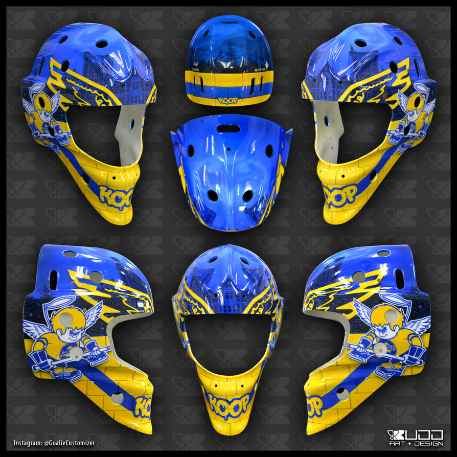 Batman Goalie Mask by ruddiger