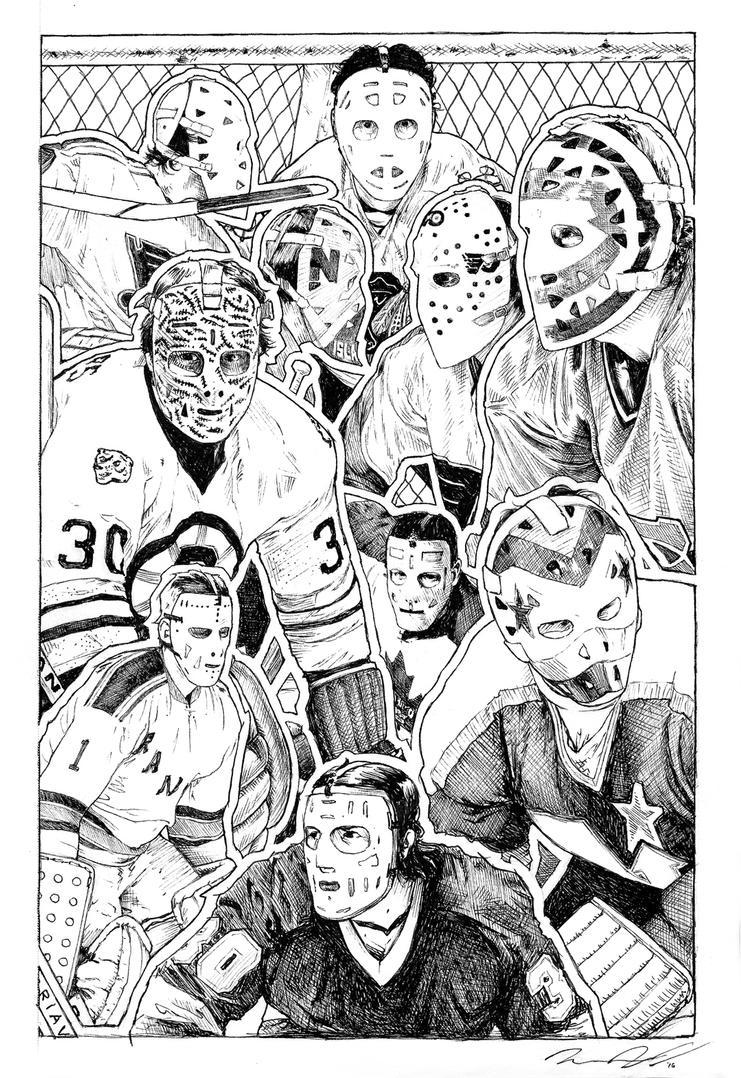 Vintage Goalie Sketch Sheet by ruddiger