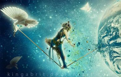 Leaving Earth - Earth Day 2012 by KingaBritschgi