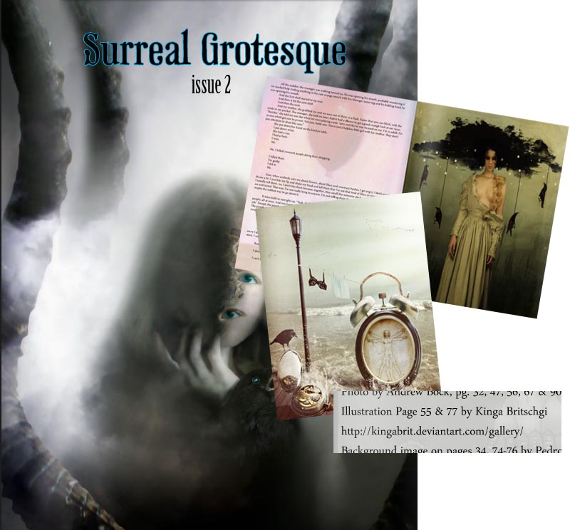 Surreal Grotesque Issue 2 - With My Works by KingaBritschgi