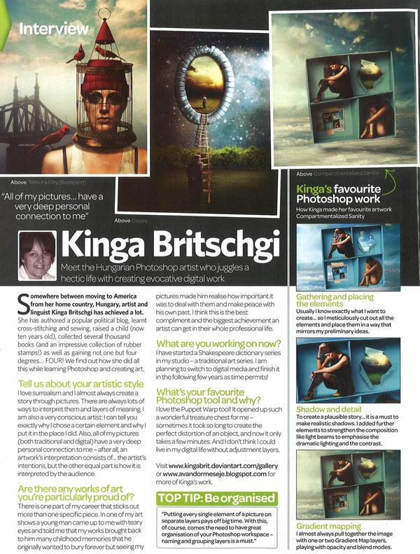Interview in Photoshop Creative - Issue 92 by KingaBritschgi