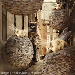 The Forgotten Flying Pig Invasion by KingaBritschgi