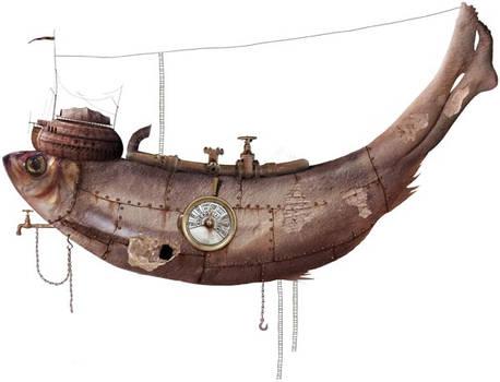 Steampunk Fish Vehicle