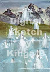 Bubbles -Digital Sketch by KingaBritschgi