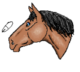 Horse Head MS Paint by EquideDesigns