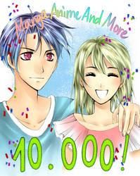 Congrats for 10.000 members in MangaAnimeAndMore! by NatsukiAkishino