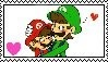 Mario and Luigi stamp by Missesamy930