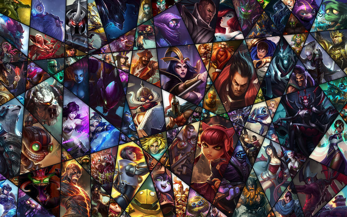 league of legends collage by starowl1 on deviantart