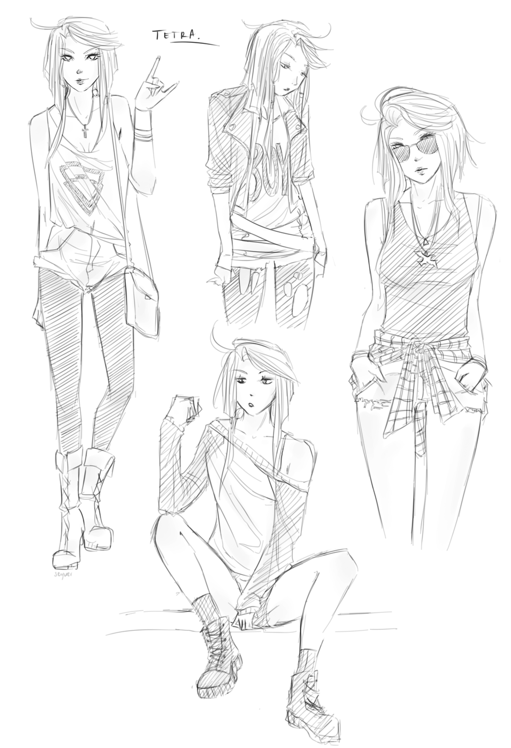 Anime dress sketches pictures