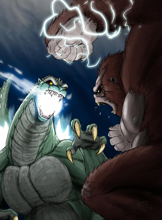 Kong vs Godzilla - by GSamurai