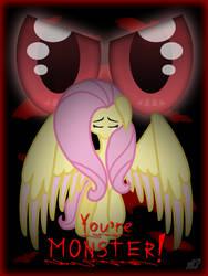 Fluttershy: You're monster! by PonyLove-aka-Fler