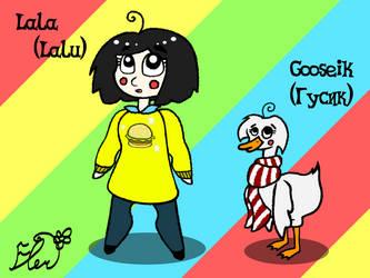 Concept: Lala (Lalu) and Gooseik by PonyLove-aka-Fler
