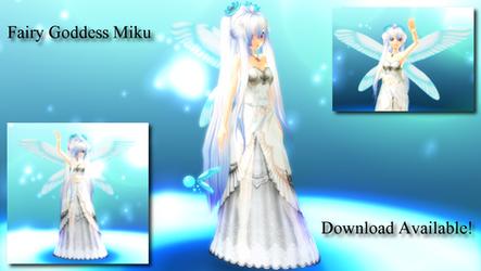 Fairy Goddess Miku by ToadieOdie