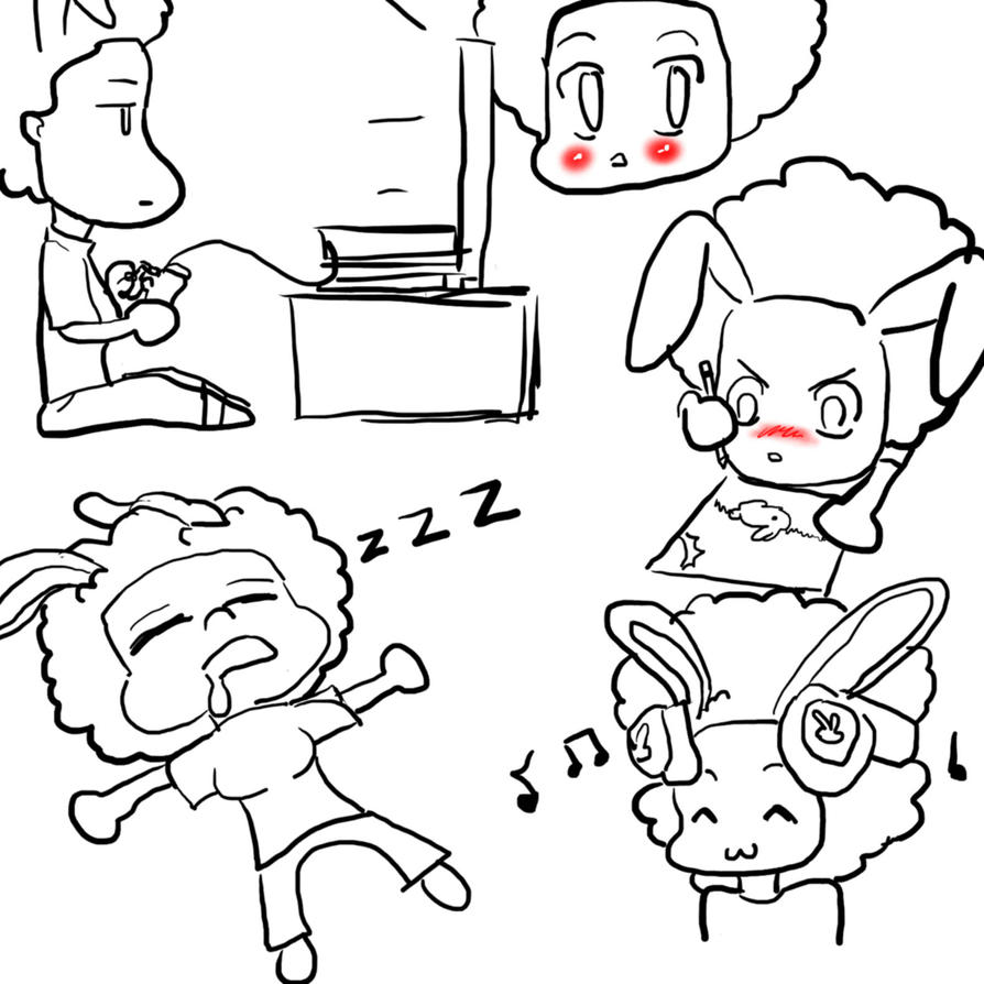 What A Bored Ash Bunny Does by renae14