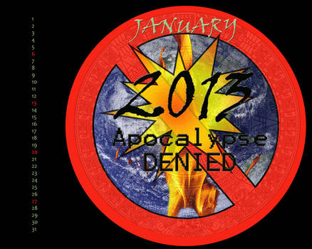 Apocalypse Denied Jan 2013 Calendar