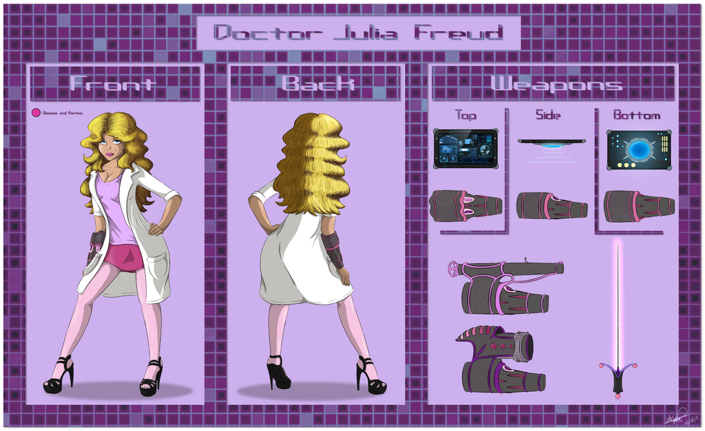 Reference Sheet: Doctor Julia Freud by A-Fox-Of-Fiction