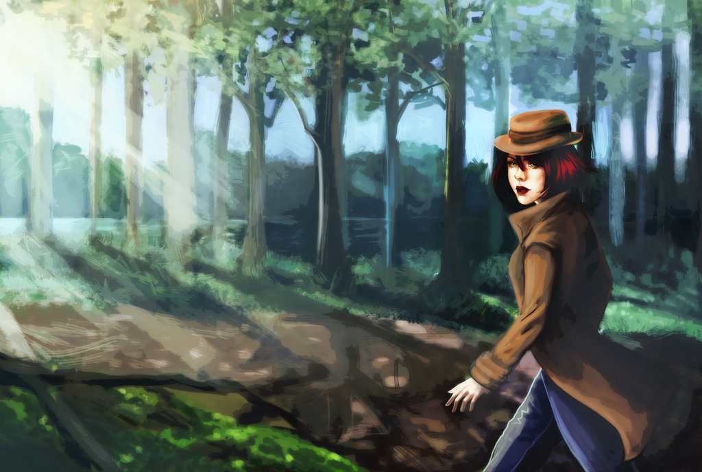 Venturing through the woods by A-Fox-of-Fanfiction