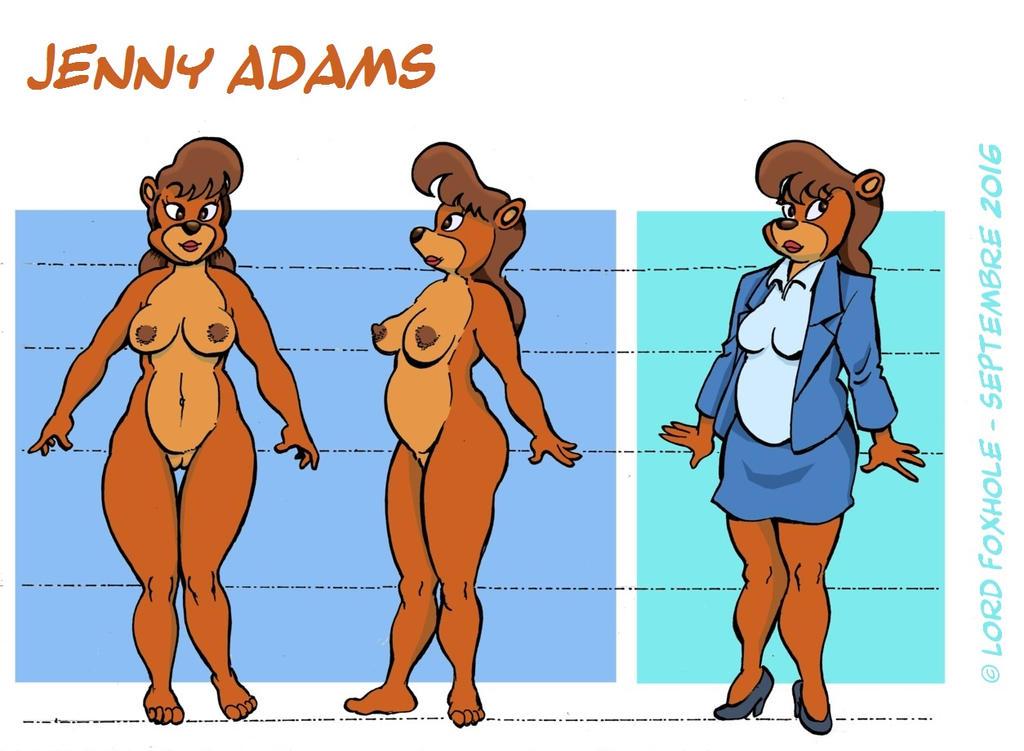 Reference sheet: Jenny Adams by A-Fox-Of-Fiction