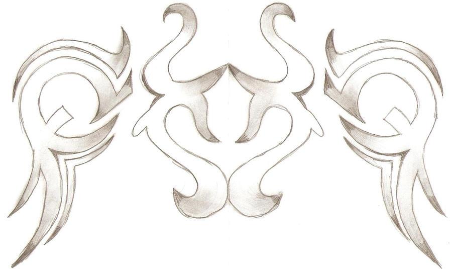 tribal taurus tattoo design by rainbowkandy on deviantart. Black Bedroom Furniture Sets. Home Design Ideas