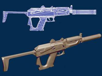 submachine gun Gepard low by DrAnkud